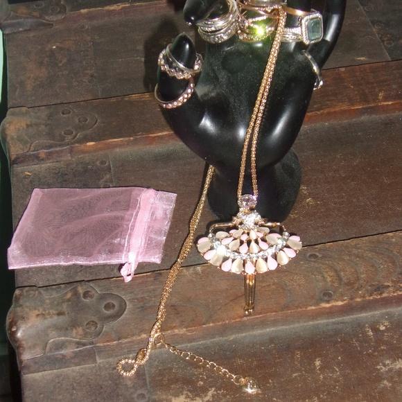 Betsey Johnson Jewelry - Betsey Johnson Pink Ballerina Necklace